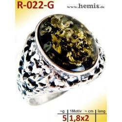 R-022-G Amber Ring,...