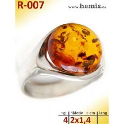R-007 Amber Ring,...