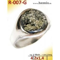 R-007-G Amber Ring,...