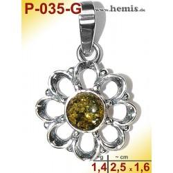 P-035-G Amber Pendant,...