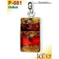 P-081 Amber Pendant,...