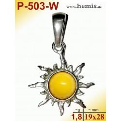 P-503-W Amber Pendant,...