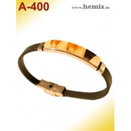 A-400 Bernstein-Armband mit...